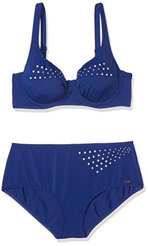 Fashy Damen Bikini Blau Mit Strasssteinen