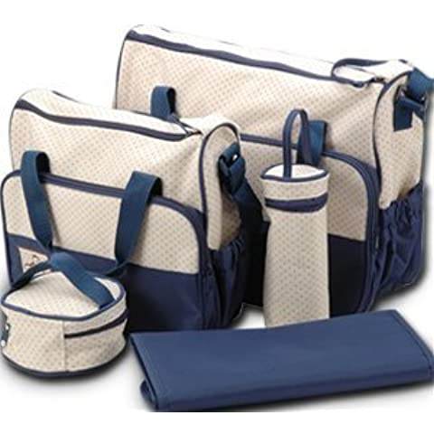 SORA H® kits Bolsa de Mama Para Bebe Biberon Bolso/Bolsa/Bolsillo Maternal Bebé para carro carrito biberón colchoneta comida