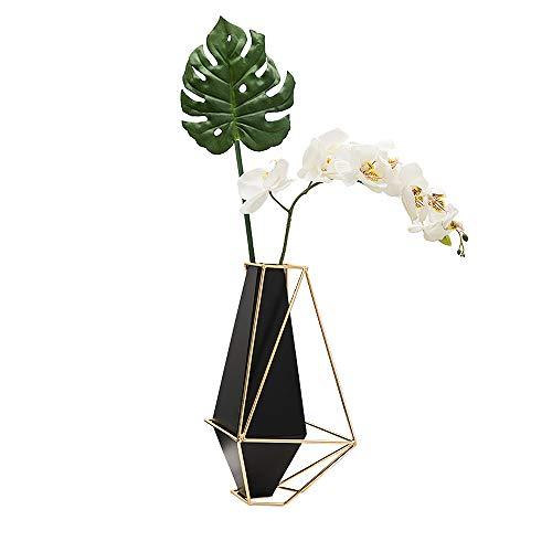 wuchenmin Postmoderne geometrische Metallvase, leichte Vase aus Schmiedeeisen ohne Hydrokultur, für Blumen, Blumenschmuck, Wohnraumdekoration.