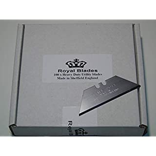 100 x Royal Blades Standard Straight Profile Quality Sheffield Made Multi Purpose Cutting Edge Carpet Trimming Tool Blades