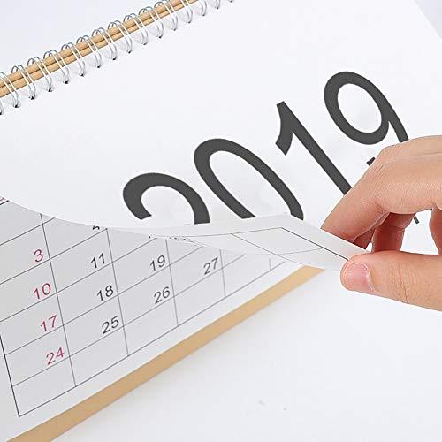 2019Home planner calendario, semplice calendario da tavolo calendario permanente per ufficio casa scuola uso quotidiano