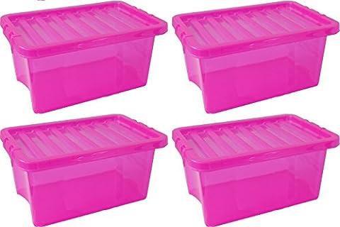 Haushaltsdose Basic Box 10l Set of 4 Organization System Storage