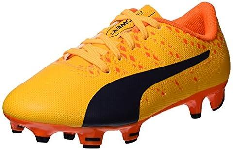 Puma Unisex-Kinder Evopower Vigor 4 FG Jr Fußballschuhe, Orange (Ultra Yellow-Peacoat-Orange Clown Fish 03), 30