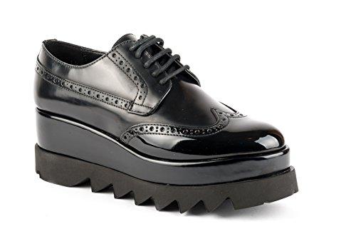 CULT scarpe DERBY DONNA CLE103294 BRUSH LTH-VEG. PATENT BLACK AI17