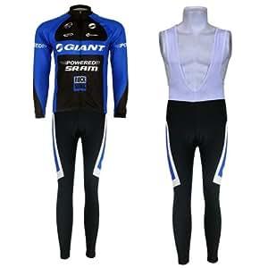 (Expédition avec colis postal) 2014 nouveau mode Maillots de cyclisme équipe manches longues ensemble pantalon et bretelle Homme Outdoor Cycling Jerseys Jersey taille:XXXL