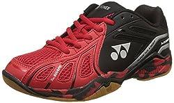 Yonex Super Ace Light Badminton Shoes, UK 6 (Light Red/Black)