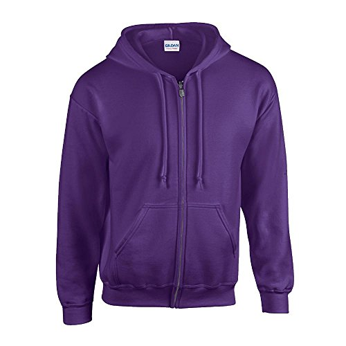 Gildan - Kapuzen Sweat-Jacke 'Heavyweight Full Zip' L,Purple - Linkshänder-shirt