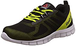 Reebok Mens Super Lite Black, Semi Solar Yllw and Wht Running Shoes -10 UK/India (44.5 EU) (11 US)