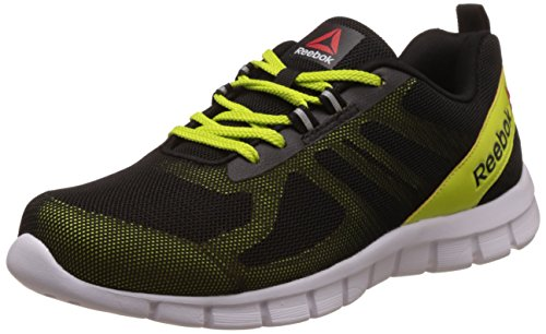 Reebok Men's Super Lite Black, Semi Solar Yllw and Wht Running Shoes -9 UK/India (43 EU) (10 US)