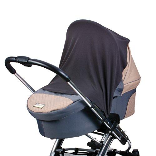 DIAGO Schlummertuch inklusive variabler Clip- und Klett-Befestigung | für unterwegs | Ruhe- und Schlaf-Abdeckung für Kinderwagen, Babywanne, Babyschale und Buggy mit Verdeck | Atmungsaktiv und Leicht