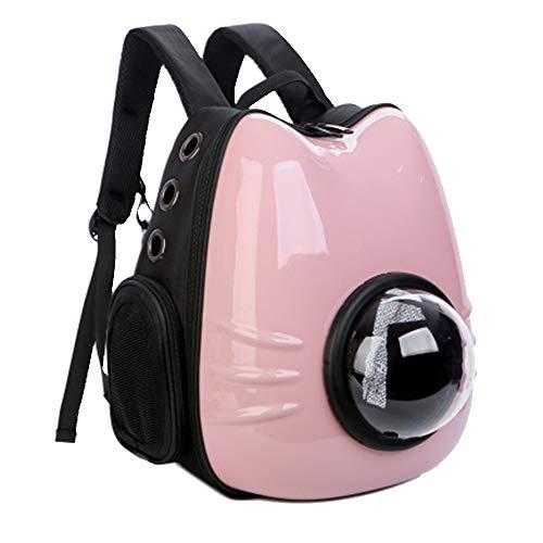 TASGK Pet Space Capsule Rucksack, Pet Bubble Traveller Knapsack Mehrere Belüftungsöffnungen wasserdichte, Leichte Handtasche Für Katzen, Kleine Hunde Und Zierliche Tiere,Pink