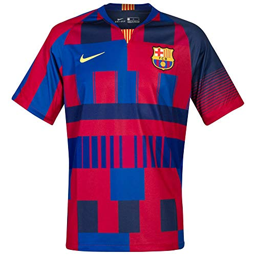 Nike FCB M NK BRT STAD JSY SS DSR Camiseta, Hombre, Azul (Deep Royal Blue/Noble Red/Tour Yellow), M