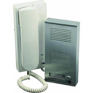 SCS SEN4137398 Metallic Door Phone Kit Mounted in Brackets 2 Wires Included