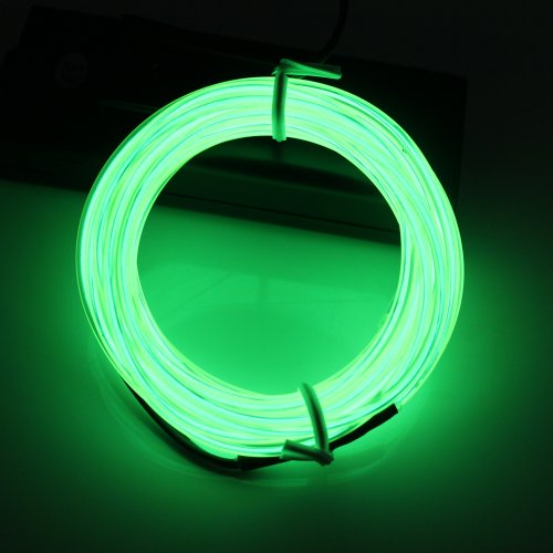 Lerway® Light Green 3M Tron Neon Glowing Electroluminescent Wire EL Wire with Transformer Christmas Light Party ()