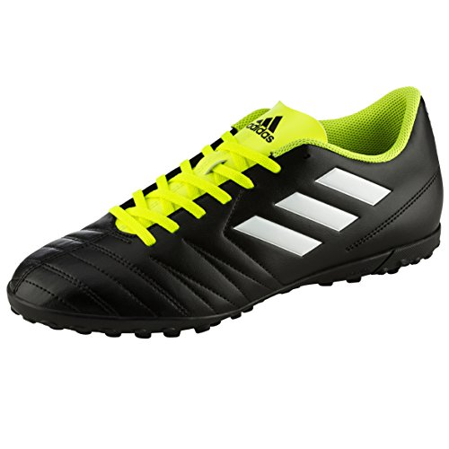 adidas Unisex-Kinder Copaletto TF J Fußballschuhe, Schwarz (Schwarz/Weiß/Gelb 000), 36 2/3 EU (Tf Fußball-schuh)