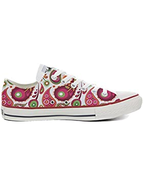 mys Converse All Star Customized - Zapatos Personalizados (Producto Artesano) White Green Paisley 2