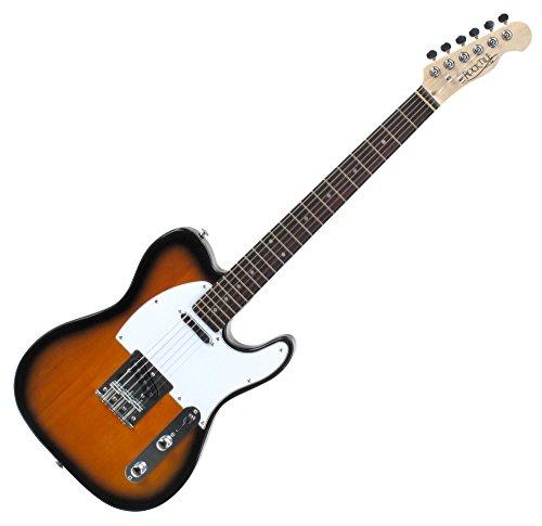 Rocktile TL100 Pro-SB - Guitarra eléctrica, 2 tonos, sunburst