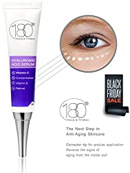 180 Cosmetics - Hyaluronic Acid Serum With Vitamin C Now With Corrector Tip - Apply Directly on Fine Lines and Wrinkled For Even Better and Effective Results - Facial Serum - Best Anti Aging Serum