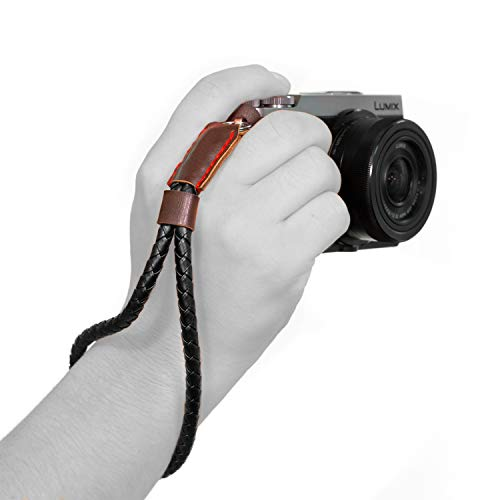 MegaGear Ultraleichte Schultergurt gewebt Leder für alle Kamera - Schwarz -