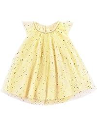 DRESS_start Vestido Para Bebé NiñAs Vestido De ImpresióN Con Lentejuelas Estrellas Sin Mangas De Cuello RedondoDe