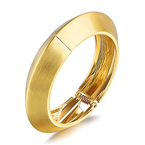 Fate Love High Polished Stainless Steel Opening Wide Cuff Bangle Bracelet for Women