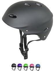 Kids / Childs / Childrens Urban Skate Helmet Ideal For Skateboard Bike BMX and Stunt Scooter Black Pink Green Blue Age Guide 3 - 8 years Boys / Girls