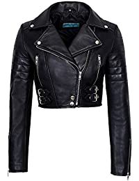"""/""""MATILDA/"""" Black Ladies Hooded  Fitted Real Lambskin Fashion Nappa Leather Jacket"""
