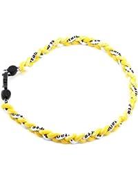 HuaYang sports 3 corde tressée colliers de titane tornade de sport de baseball(Jaune/Jaune/Blanc)