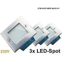 '230V Set di  LED da incasso a parete Spot