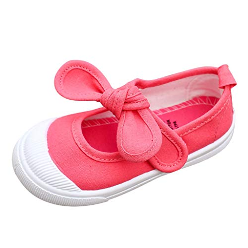Kurzarm Rock-klage (Kleinkind Schuhe Kinderschuhe Mädchen Junge Segeltuch Schuhe Heligen Kinder Kid Baby Mädchen Feste Bowknot Student Single Soft Dance Prinzessin Schuhe)