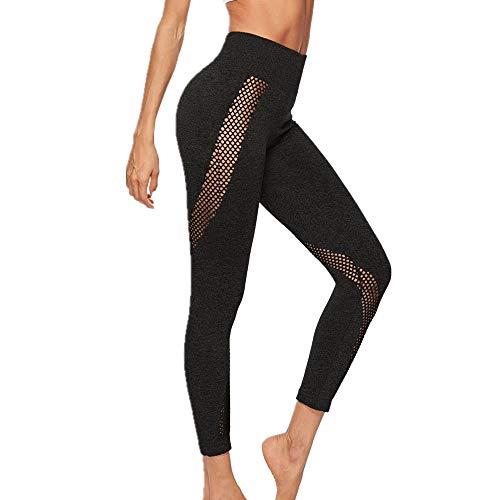 zhja 2019 pantaloni da yoga per fitness all'aria aperta con leggings per esercizi per l'anca da yoga con foro vuoto