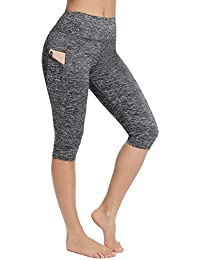 f4f3aab806c1 FITTOO Women's Capris Workout Legging Running Tights Yoga Pants with Side  Pocket