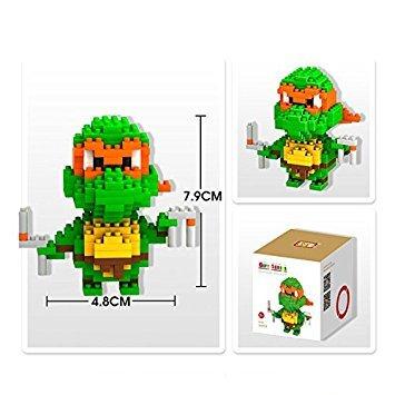 Figures-Pokemon-TMNT-Superheroes-Building-blocks-Mini-figures-Teenage-Mutant-Ninja-Turtles-PVC-57cm-Original-box-manual-worker-By-channeltoys-MICHELANGELO