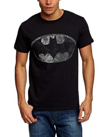 Plastic Head DC Comics Batman Vintage Silver Logo Men's T-Shirt Black Small