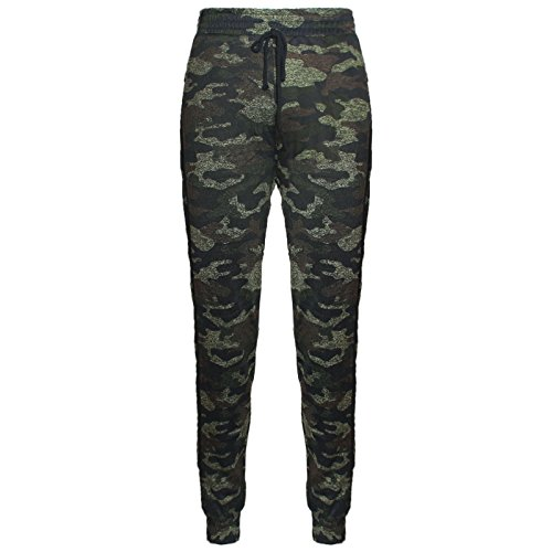 Minni Rossa Mens Gym Camouflage Trousers Sports Tracksuit Bottoms Jogging Casual Sweatpants Sizes S/M M/L XL