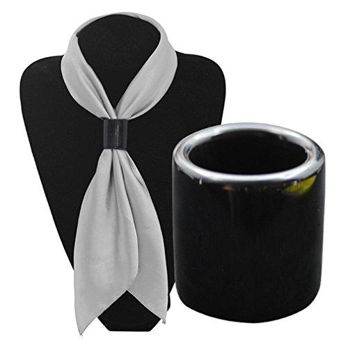 sewanz Ciondolo da donna nero corno naturale cilindro sciarpe fibbia,