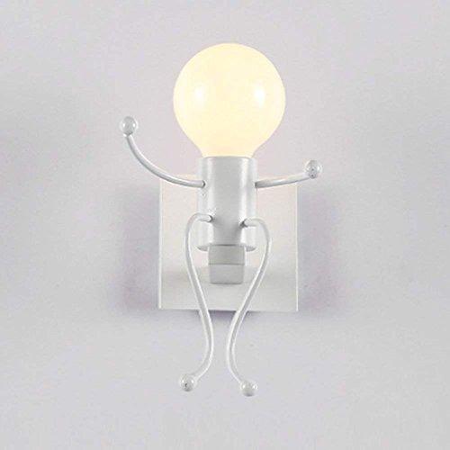 Seule Chambre Fer Lampe De Enfant Des Chevet À Led L'allée Coucher Créatif L'intérieur Moderne Blanc Tête Mur Salon Lampes uK13clFJT