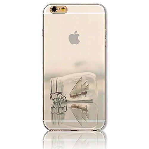 """Sunroyal® 3en1 TPU Coque Apple iPhone 6/6S 4.7"""" Etui Housse Transparente Creative 3D Case Cover ExtraSlim Ultra-light Premium Doux Silicone Gel Cas Couvrir Élégant Souple Shell Replacement Hull Téléph Pattern 30"""