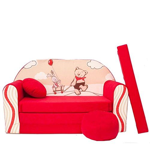 Barabike D26 + Canapé d'enfant bébé Canapé Mini Canapé Canapé lit Pouf Lot de 3 en 1 d'oreillers en Mousse