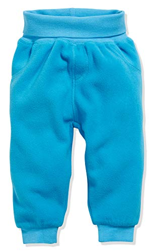 Schnizler Unisex Baby Jogginghose Pump-Hose, Fleecehose mit Strickbund , Türkis (Aquablau 23) , 98 -