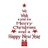 ABCMOS Vorrei che l'albero di Natale soggiorno da pranzo finestra vetrata adesivo