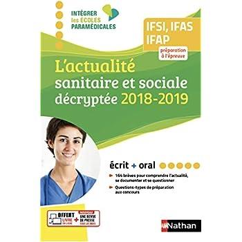 L'actualité sanitaire et sociale décryptée - Ecrit - Oral - 2018/2019