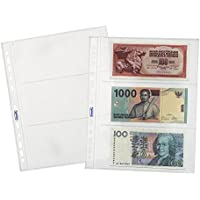 Favorit 100460127 Busta a Foratura Universale Porta Banconote Spessore Top Formato Interno 18X8(X3) Finitura Liscia, Confezione da 25 Pz.