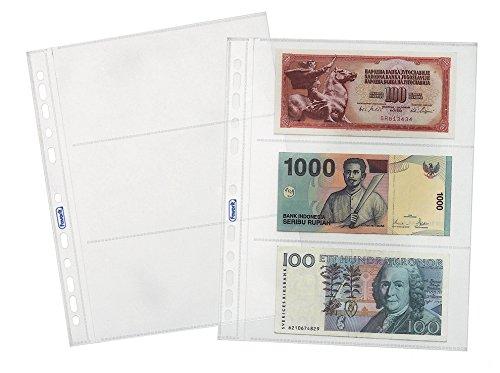 Elba 100460127 - Bolsa de 25 fundas para billetes, polipropileno
