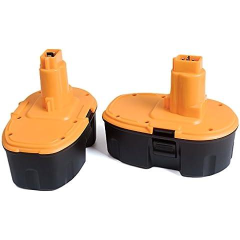 FLAGPOWER Batteria di Ricambio da per Dewalt DC9096 DE9503 DC9099 388683-12 651034-01 DE9039 DE9095 18V (Cordless Impact Driver Kit)