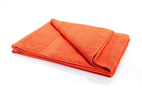 etérea Handtuch - Frotteeserie, schwere und Flauschige 500 g/m² Qualität, 80 cm x 200 cm Saunatuch in Orange