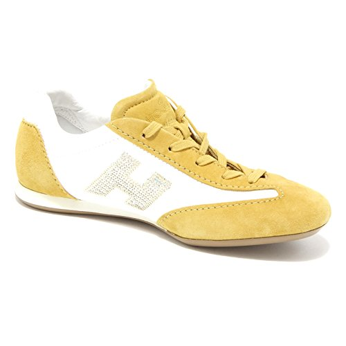sneaker HOGAN OLYMPIA scarpa donna shoes women 49749 Bianco/Giallo