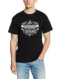 Shirtzshop T Shirt Gott Formte Den Perfekten Mann Und Nannte Ihn Elektriker