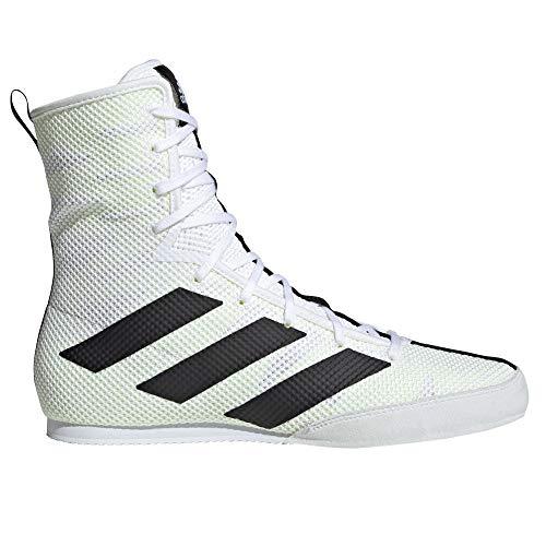 adidas Box Hog 3 - Scarpe da Boxe, Colore: Nero, Bianco (White/Black), 40 EU
