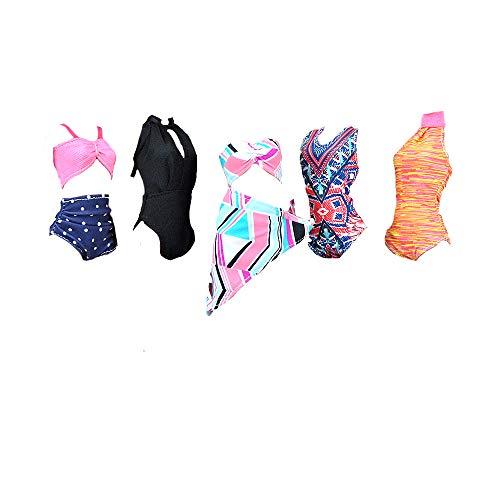 E-TING 5 Conjuntos Bikini Traje de Baño Vestir Ropa para muñeca de niña( 2fe219cc56d09